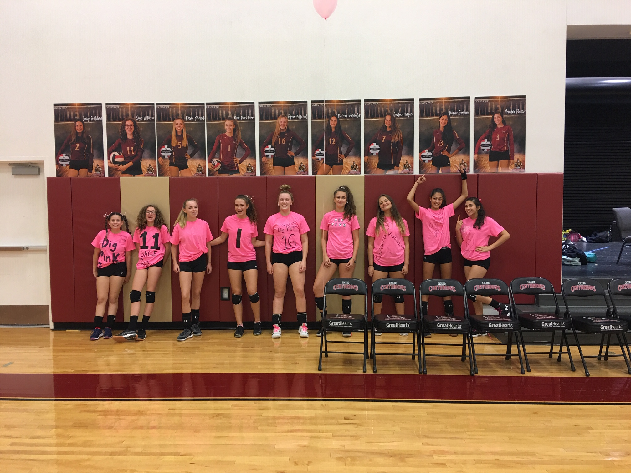 HS VB Pink-Out Night