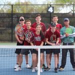 Group photo of the tennis team.