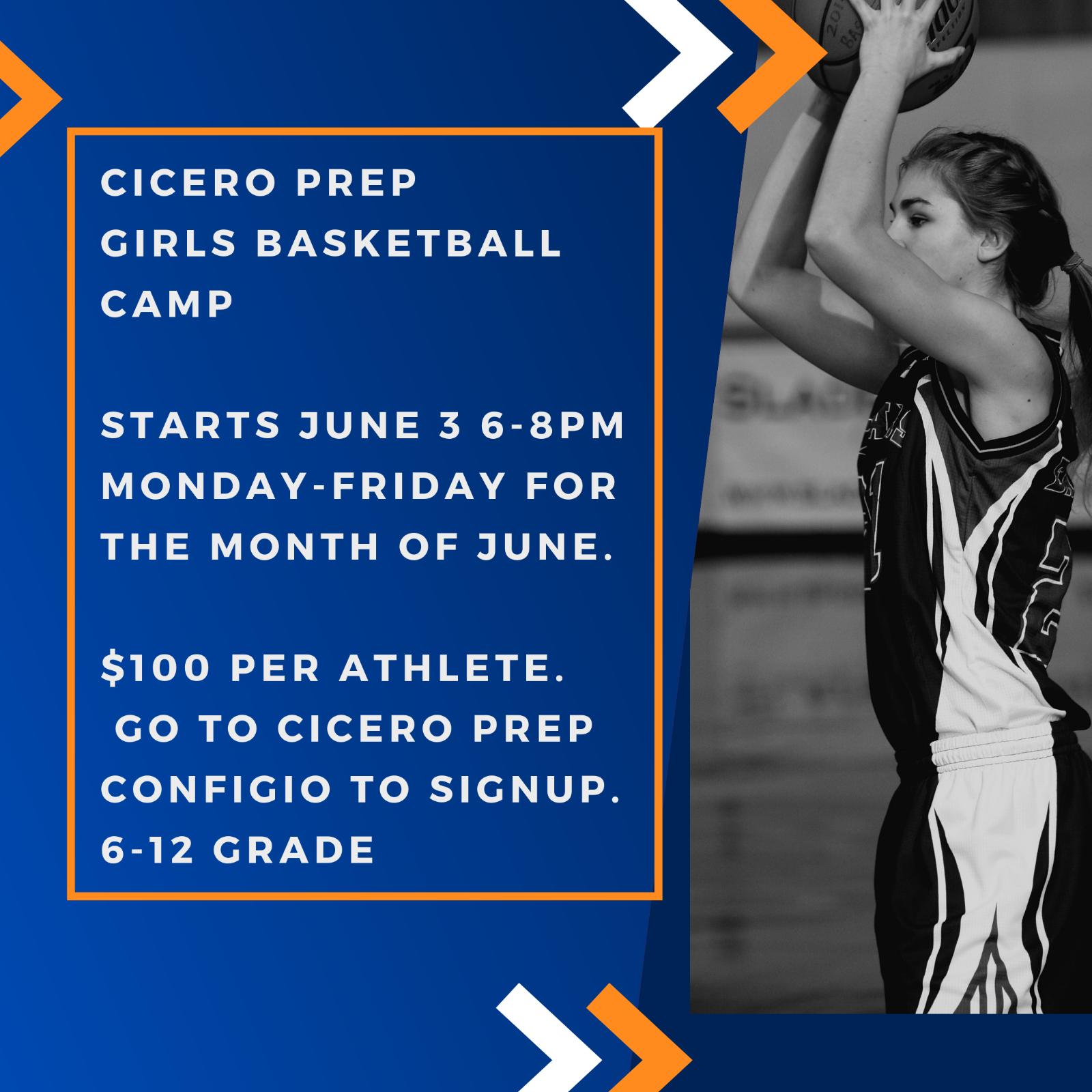 MS/HS Girl's Basketball Camp June 3-28