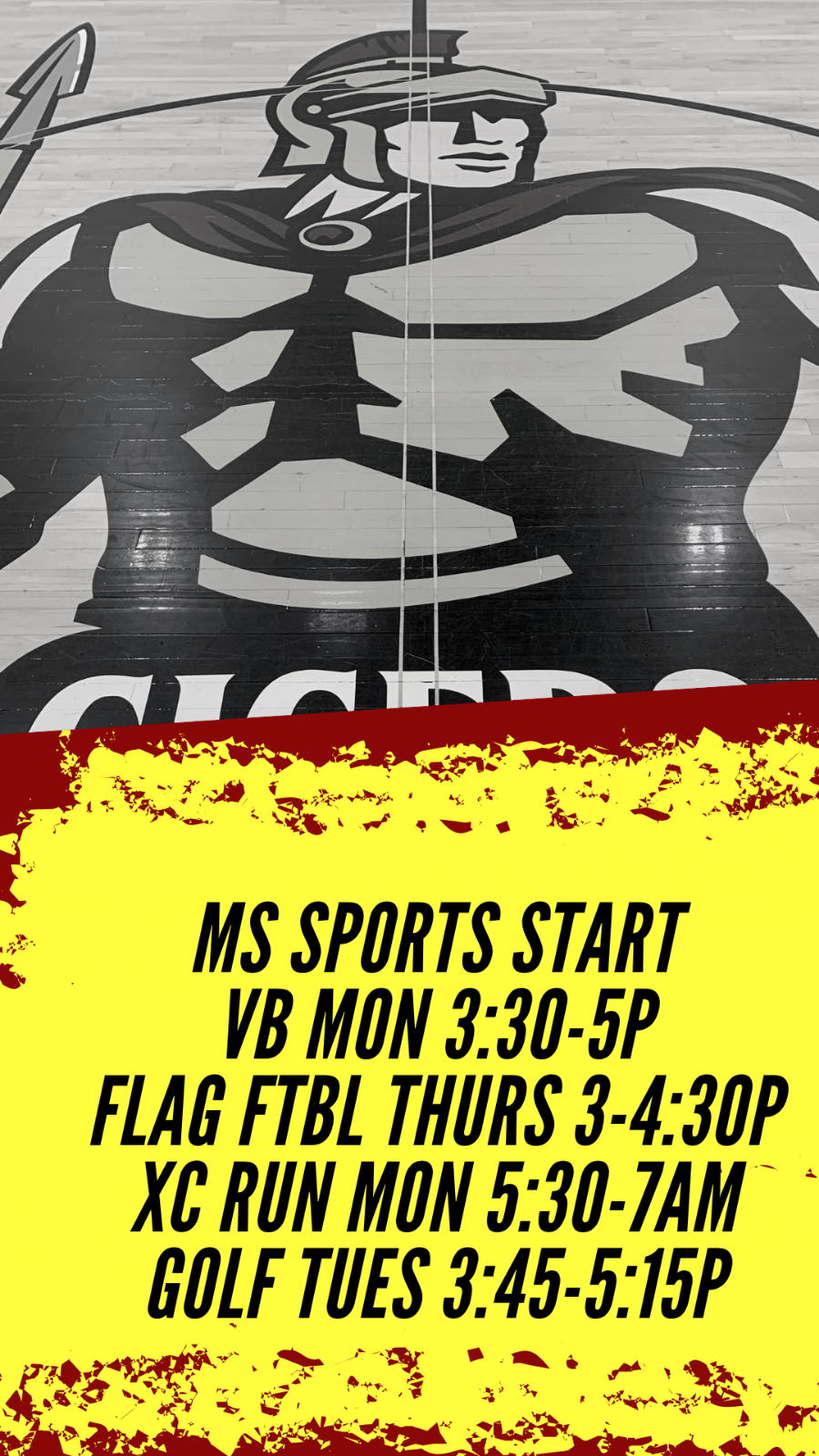 Middle School Sports Start This Week!
