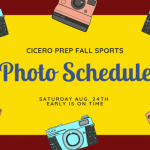 Schedule for Fall Sports Team Pics