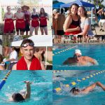 Multiple pictures of swimmers.