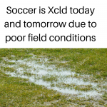 Soccer is Xcld today and tomorrow
