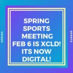 Spring sports meeting announcement.
