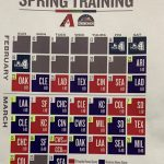 2020 spring baseball training calendar.