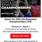 NFHS Network basketball championship advertisement.