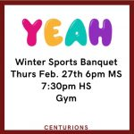 Message about winter banquet