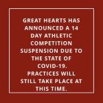 Message about sports xcld due to COVID-19