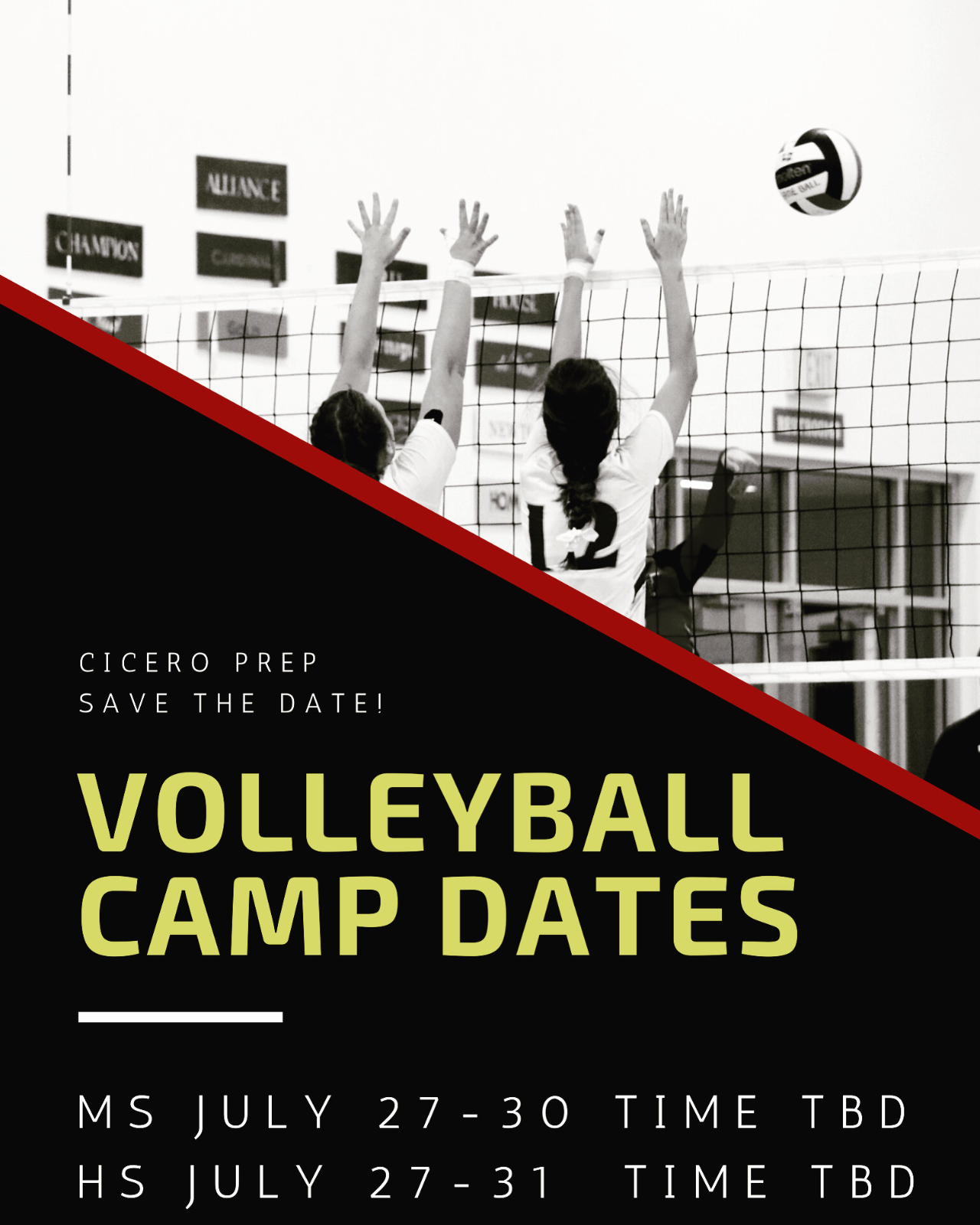 July Volleyball Camps! Save the Date!