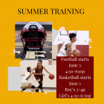 Sports camp info with sports pic