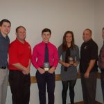 Huebner and Caster Honored by Kiwanis