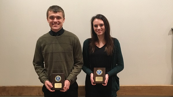 Tyler Peterson and Ethan Martysz Named January Athletes of the Month