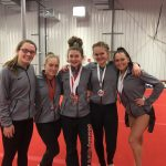 Varsity Gymnastics finishes 3rd place at Peak Performance Meet (Marquette, MI)