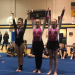 Varsity Gymnastics finishes 3rd place at U.P. Championships (at Negaunee)