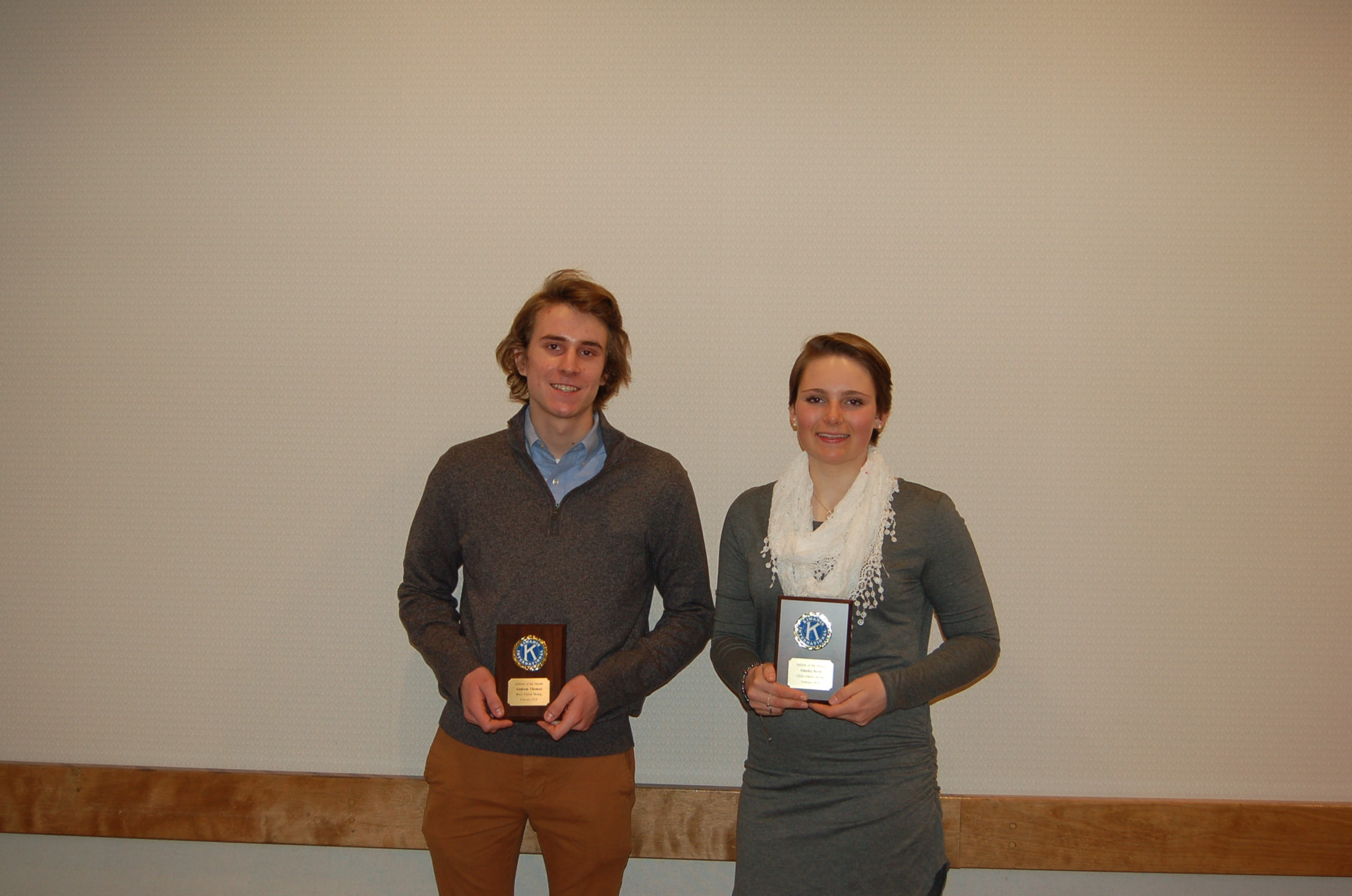 Ainsley Kirk and Drew Thomas Named February Athletes of the Month
