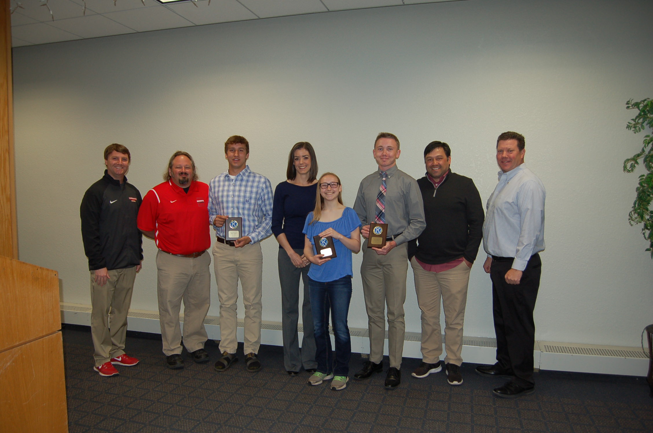 Abby Kroll, Mitch Connon and Ryan Glover Named April Athletes of the Month