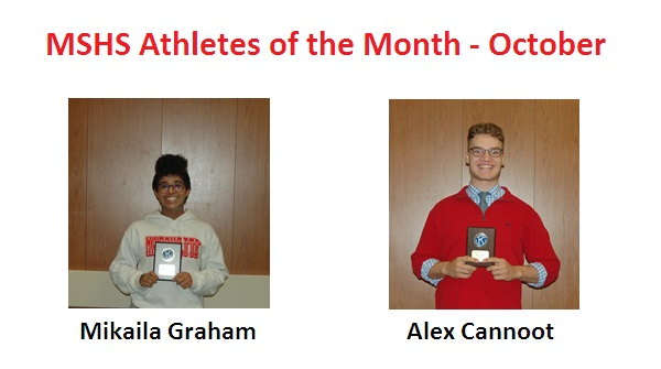 Mikaila Graham and Alex Cannoot Named October Athletes of the Month