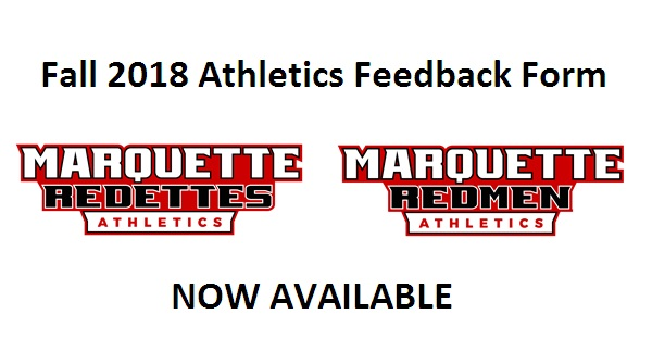 Fall 2018 Athletics Feedback Form Now Available