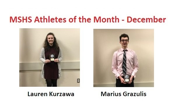 Lauren Kurzawa and Marius Grazulis Named December Athletes of the Month