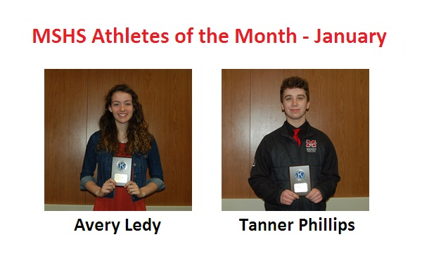Avery Ledy and Tanner Phillips Named January Athletes of the Month