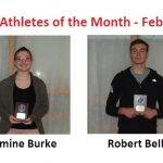 Jasmine Burke and Robert Bell Named February Athletes of the Month