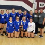 The Lady Eagles win the Riverton Parke Tournament