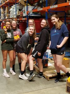 Volleyball at Cleveland Food Bank