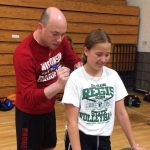 Coach Tsipis (Wisconsin Badgers) visits Regis Basketball Camp