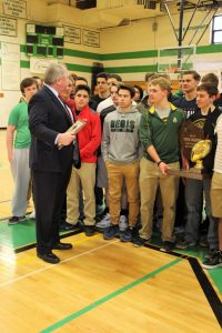 Rep. Wachs Plaque Presentation (Regis Football)