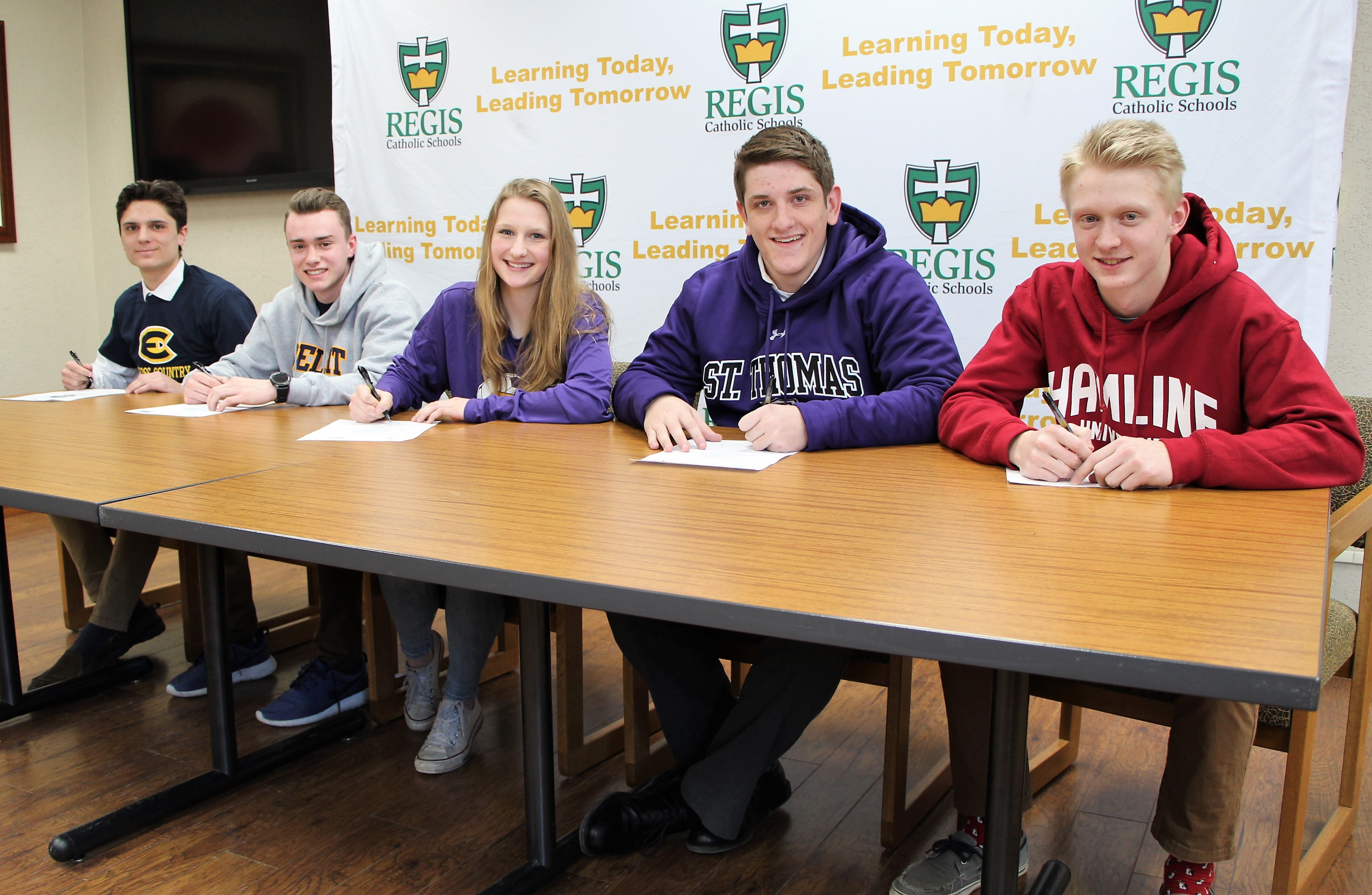 Five Regis High School athletes sign Letters of Intent