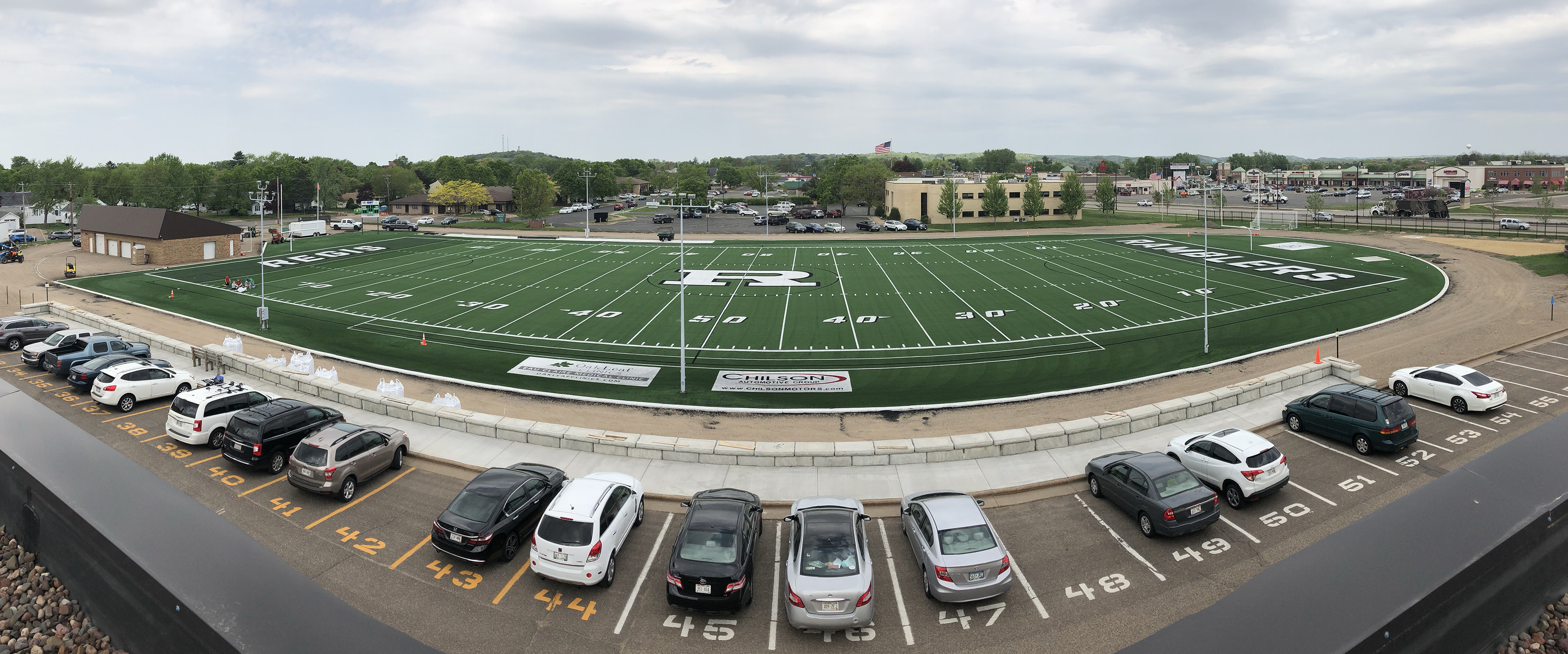 First athletic event to be held on new turf