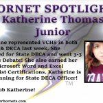 Hornet Spotlight: Katherine Thomas