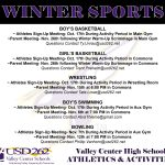 Winter Sports Sign-Up and Parent Meeting Information