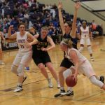 Girls Varsity Basketball beats Hutchinson 32 – 30