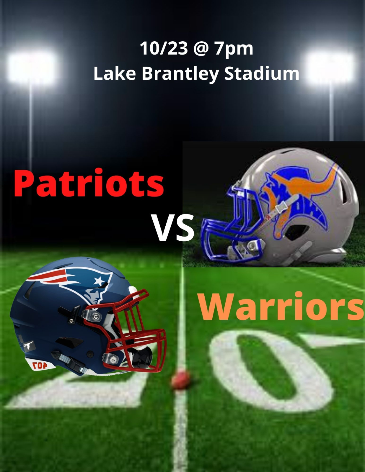 Football Week 6: Warriors @ Lake Brantley, Live Stream Link Available Here