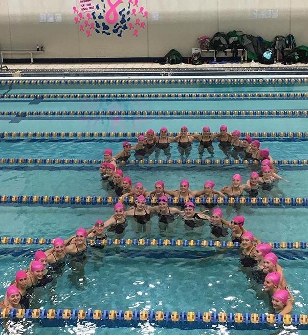 "Swim Teams swim to ""Beat Cancer"""