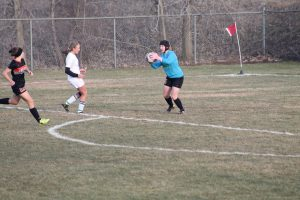 Thornapple-Kellogg High School Varsity Lady Trojans beat Wayland High School 4-3