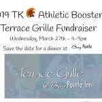 Eat Out on Wednesday, March 27th to Support TK Athletic Boosters