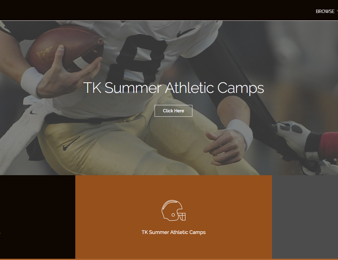 2019 TK Trojan Athletic Summer Camps are ONLINE