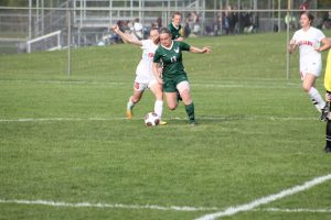Thornapple Kellogg High School Lady Varsity Soccer Beat Wayland High School 3-0