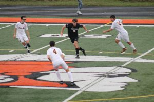 Thornapple Kellogg High School Varsity Boys Soccer Beat East Grand Rapids High School 2-1