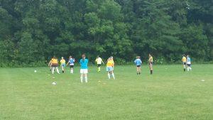 Girls Soccer 2014 – 1st Practice