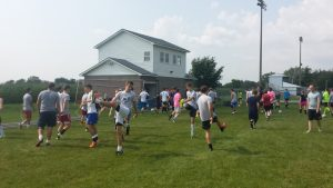 Boys Soccer 2014 – First Practice
