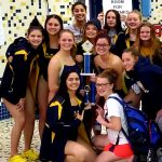 Girls Swimming set two new records to defeat all comers and win the Mooresville Invitational