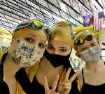 Girls Varsity down to 3 Swimmers and 2 Divers but still getting it done