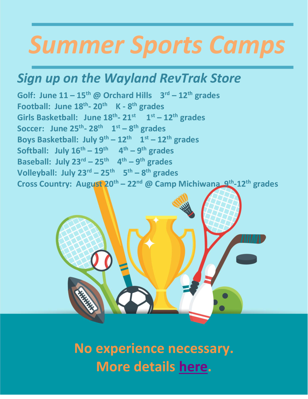 Summer Sports Camps 2018
