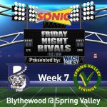 Football Games Against Spring Valley Moved Up Due To Playoffs