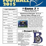 Football Game Notes vs. Spring Valley