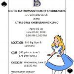 Youth Cheerleading Summer Camp Heading To Wonderland
