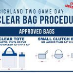 New Clear Bag Policy For 2019